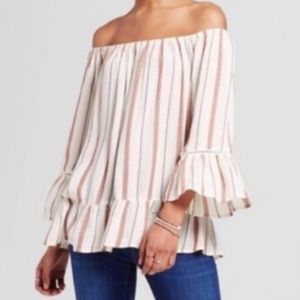 Mossimo Peasant Off the Shoulder Top Size Small